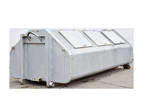 Abrollcontainer verschließbar